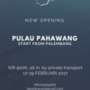 [start PALEMBANG] ALL-IN Pahawang trip 3d2n via private transport AC