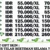 Jasa Gift Skin Mobile Legend / Top up Diamond Mobile Legend / Refill Diamond Moba