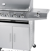 HSQ-A214S GAS BBQ BURNER WITH SIDE BURNER ATAU KOMPOR BBQ