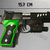 PINDAD PS-01 Green Black With Laser - Pistol - Azzuri - Senjata Kokang