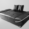 Sofabed second Warna Hitam