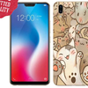 Garskin Skin Protector Vivo V9 Cat Case Lovers