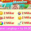 Koin, Bintang, Booster dan Bom Matchington Mansion iOS/Android