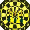 Dart Board Double Side Papan Panah Panahan Dua Sisi