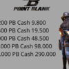 Top Up Point Blank Cash 1.200 - 36.000 Via User ID