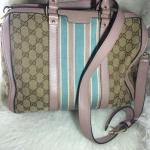 gucci-gg-web-boston-thistle-satchel-used