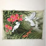 lukisan-jadul-dan-kuno-sepasang-burung-jalak-bali