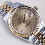 rolex-datejust-16233-two-tone-champagne-diamond-dial-36mm