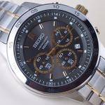 seiko-chronograph-quartz-two-tone-black-dial-steel-44mm