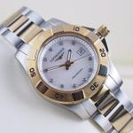 longines-hydroconquest-quartz-mother-of-pearl-diamond-dial-gold-plated-31mm