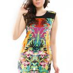 gatsuonecom--sale-mini-dress-cora---green-motif