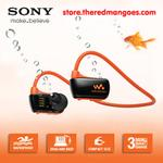 sony-nwz-w273s-4-gb-waterproof-mp3-player-orange-with-swimming-earbuds