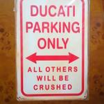 street-sign---plang-ducati-parking-only-vintage
