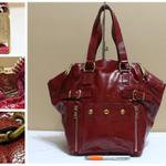 tas-kulit-branded-mewah-yves-saint-laurent-red-patent-trapeze