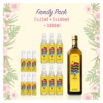 family-pack---vco-coco-milagro-1-liter-6-x-100ml-6-x-25ml
