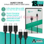 kabel-fast-charging-aukey-cb-d5-micro-usb-cable-5-pack-garansi-resmi