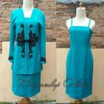 preloved-tosca-set-dress-with-blazer-formal-office-party-maxi-dress