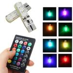 lampu-led-rgb-mobil-t10-6-smd-5050-2w-12v-2-pcs--remote-control---multi-color