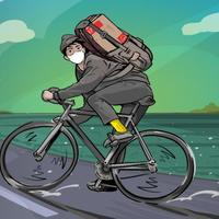jadi-kurir-sepeda-selama-pandemi-vicky-kantongi-rp200-ribu-dalam-sebulan