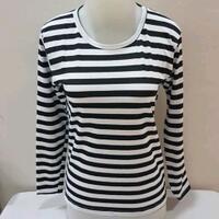 bundling-kaos-cewek-motif-stripe-salur