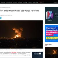 3000-roket-israel-hujani-gaza-181-warga-palestina-tewas