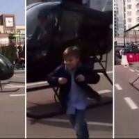 takut-anaknya-terlambat-pria-ini-antar-anaknya-sekolah-dengan-helikopter