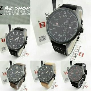 Jam Tangan Pria Naviforce NF 9074 Leather Original Murah