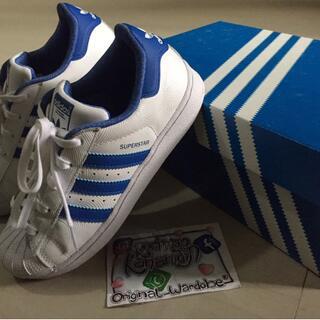 Sepatu Adidas Kids Super Star Trainer Ortholite White Blue Original 100% 3efebc00d6