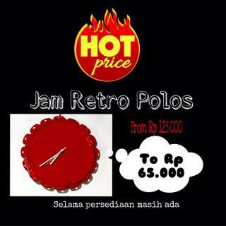Jam Dinding Retro Polos (hot price) e3d19e1df4