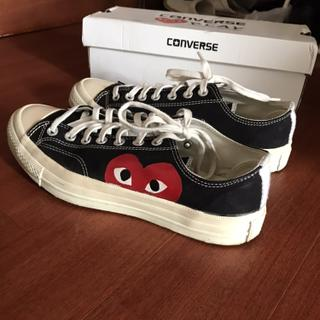 9e88e010a6f8 Converse play commes des garcons cowok 2nd mirror quality with box black