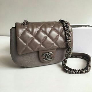 JUAL TAS CHANEL OVALE MINI SLING VINTAGE LEATHER GREY 17CM MIRROR QUALITY c11a14ecec