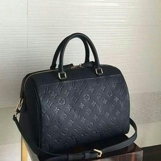 JUAL TAS LV SPEEDY BANDOULIERE EMBOSS BLACK LEATHER MIRROR QUALITY f305d01c2f