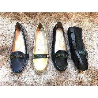 62 HK Import Mirror Quality Cco Gucci Flat Biru Gold Hitam . Flat Shoes  Sepatu KW1 99210287c4