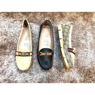 64 HK Import Mirror Quality Cco Gucci Flat Hitam Gold . Flat Shoes Sepatu  KW1 KW dce4694f51