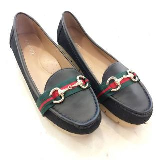 85 HK Import Mirror Quality ING Gucci Warna Hitam . Flat Shoes Sepatu KW1 KW  1 029bfaac5a