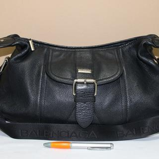 Tas branded BALENCIAGA BC89 Black leather sling second bekas original asli 6bbf0af7a3