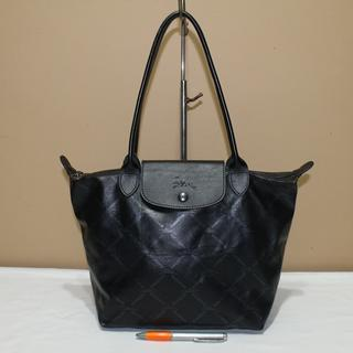 Tas branded LONGCHAMP LC231 Type M Black print second bekas original asli a443607c81