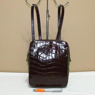 Tas branded PRADA P134 Ransel backpack croco motif second bekas ori asli 2d1041f653