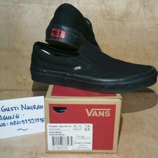 vans slip on full black ori not adidas nike macbeth converse jordan supreme  bape fdab8bf833