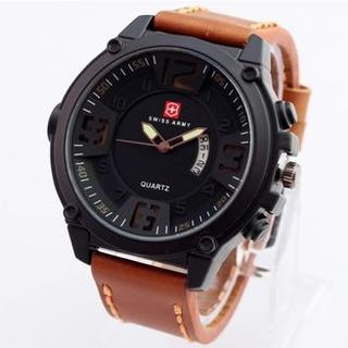 Swiss Army Monster D48H90SA01MCKTM Casual Men s Daydate Jam Tangan Pria Leather Strap