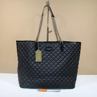 Tas wanita branded COACH C398 Quilted chain tote second original 37b0b1d6f5