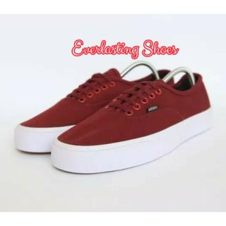 Sepatu Vans Authentic Mono Red Maroon Grade Ori Merah Marun Shoes Shoe  Sneakers f433570f6e