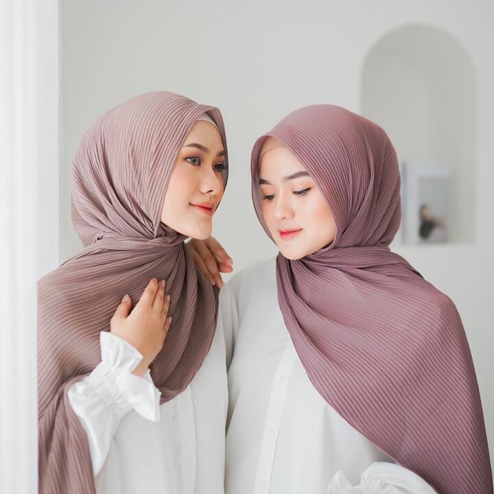 5 Rekomendasi Toko Hijab Pashmina Plisket di Shopee, Murah dan Laris
