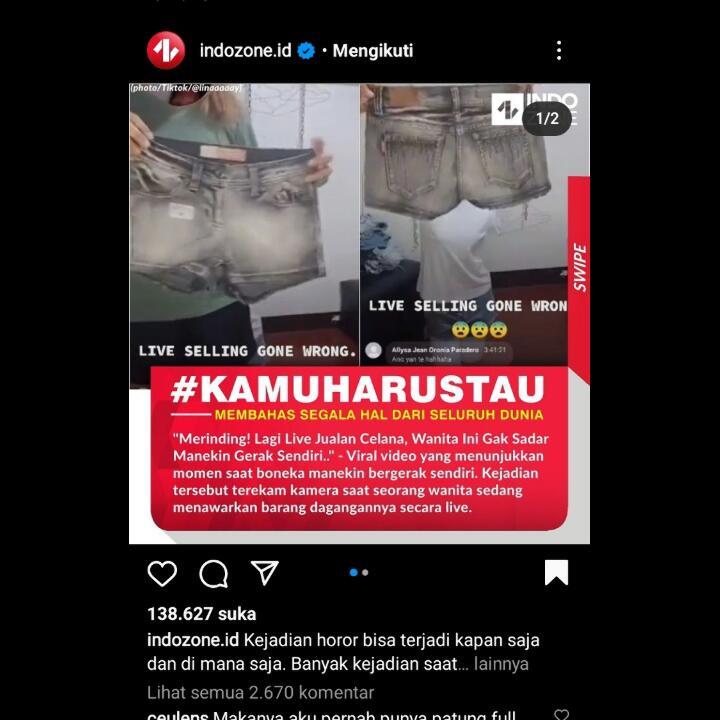 Manekin Baju Jalan Sendiri, Serem!