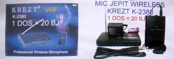 Microphone Mimbar Kretz MC-2V Wireless dan Mic Clip On untuk Seminar. Pidato.Konser
