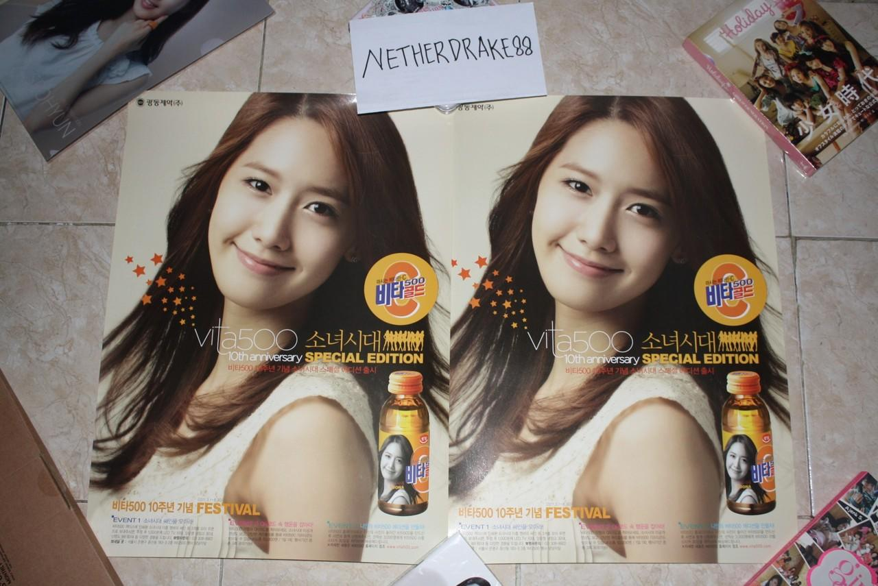 [ready stock] poster official snsd woongjin coway & yoona vita 500