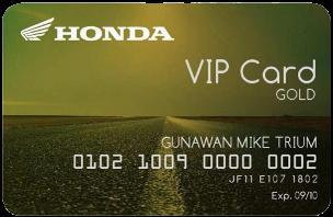 HONDA VIP CARD for Honda Biker