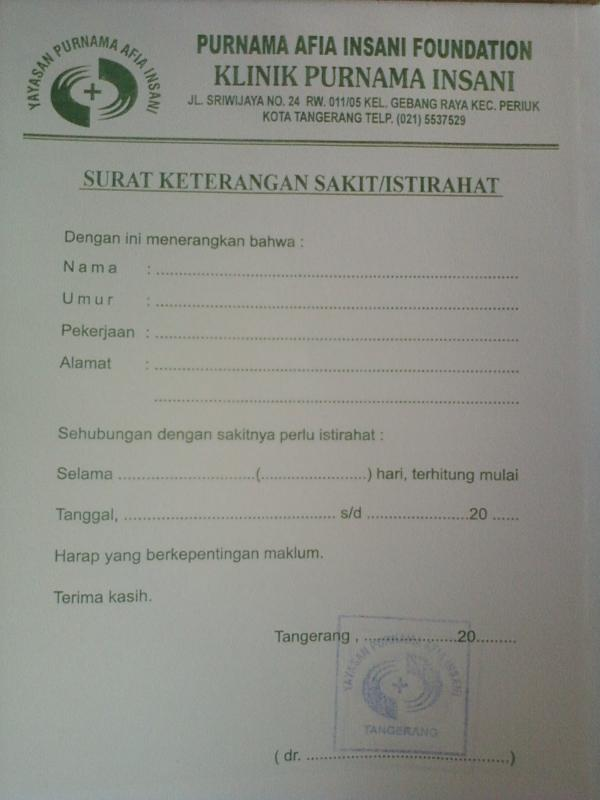 Jual Surat Sakit Dari Dokter Se Indonesia Kaskus Archive