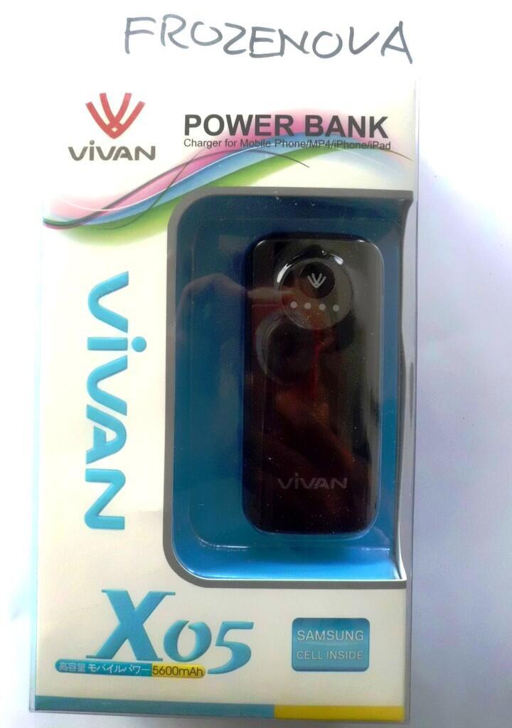 == POWER BANK VIVAN X05 5600mAH TANGERANG ORIGINAL! ==