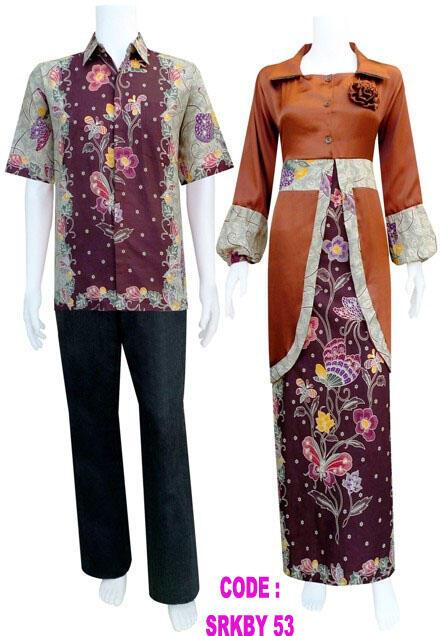 kebaya batik modern pasangan